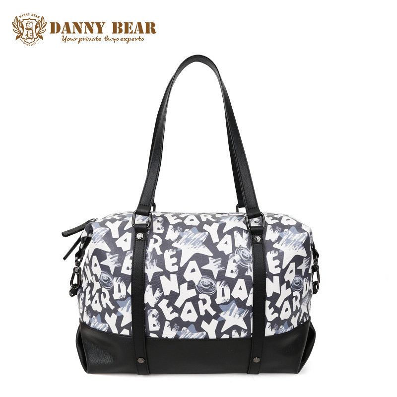 DANNY BEAR High Quality Women Leather Handbags Large Summer Travel Handbag Causal Laptop Shoulder Bag Brand Notebook Tote Bolsa high quality authentic famous polo golf double clothing bag men travel golf shoes bag custom handbag large capacity45 26 34 cm