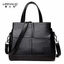 Leder patchwork tasche damen schwarze Handtasche taschen für frauen 2017 beutel handtasche frauen berühmte marke luxus handtasche frauen taschen designer
