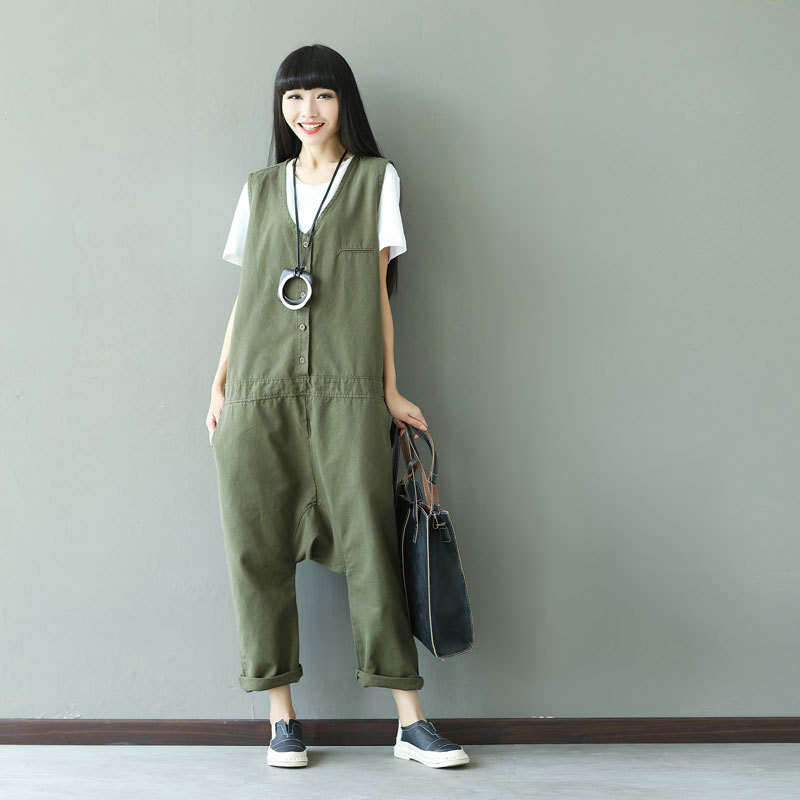 2018 Autumn Winter Rompers Womens Jumpsuit Fashion Vintage Overalls Hot Plus Size Elegant Jumpsuit Women Cotton Korean Style New