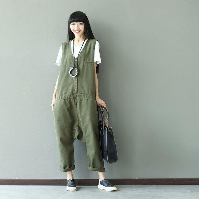 a4b97518d4f 2019 Autumn Winter Rompers Womens Jumpsuit Fashion Vintage Overalls Hot  Plus Size Elegant Jumpsuit Women Cotton Korean Style New