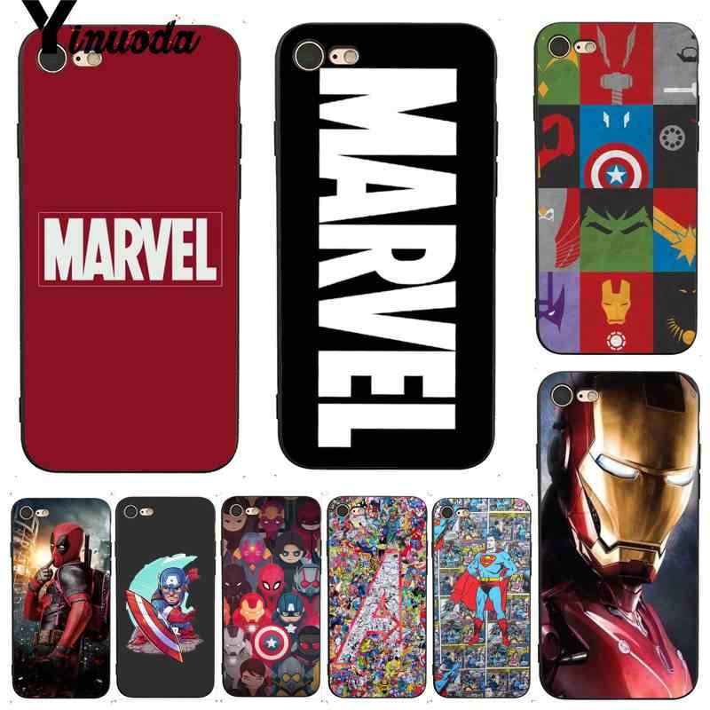 Yinuoda For iphone 7 6 X Case Deadpool Iron Man Marvel Avengers KingKong Soft Phone Case for iPhone 7 X 6 6S 8 Plus 5 5S SE 5C