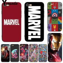 Yinuoda For iphone 7 6 X Case Deadpool Iron Man Marvel Avengers  Phone for iPhone11 Pro Max 6S 8 Plus 5 5S SE 5C