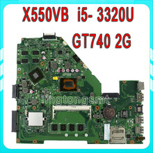 X550VB Laptop motherboard For Asus X550CC REV2.0 Mainboard With i5-3320 Processor GT740 2g fully tested