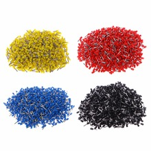 1000 Pcs AWG14 2.5mm2 Automotive Insulated Cord End Terminal Wire Ferrules