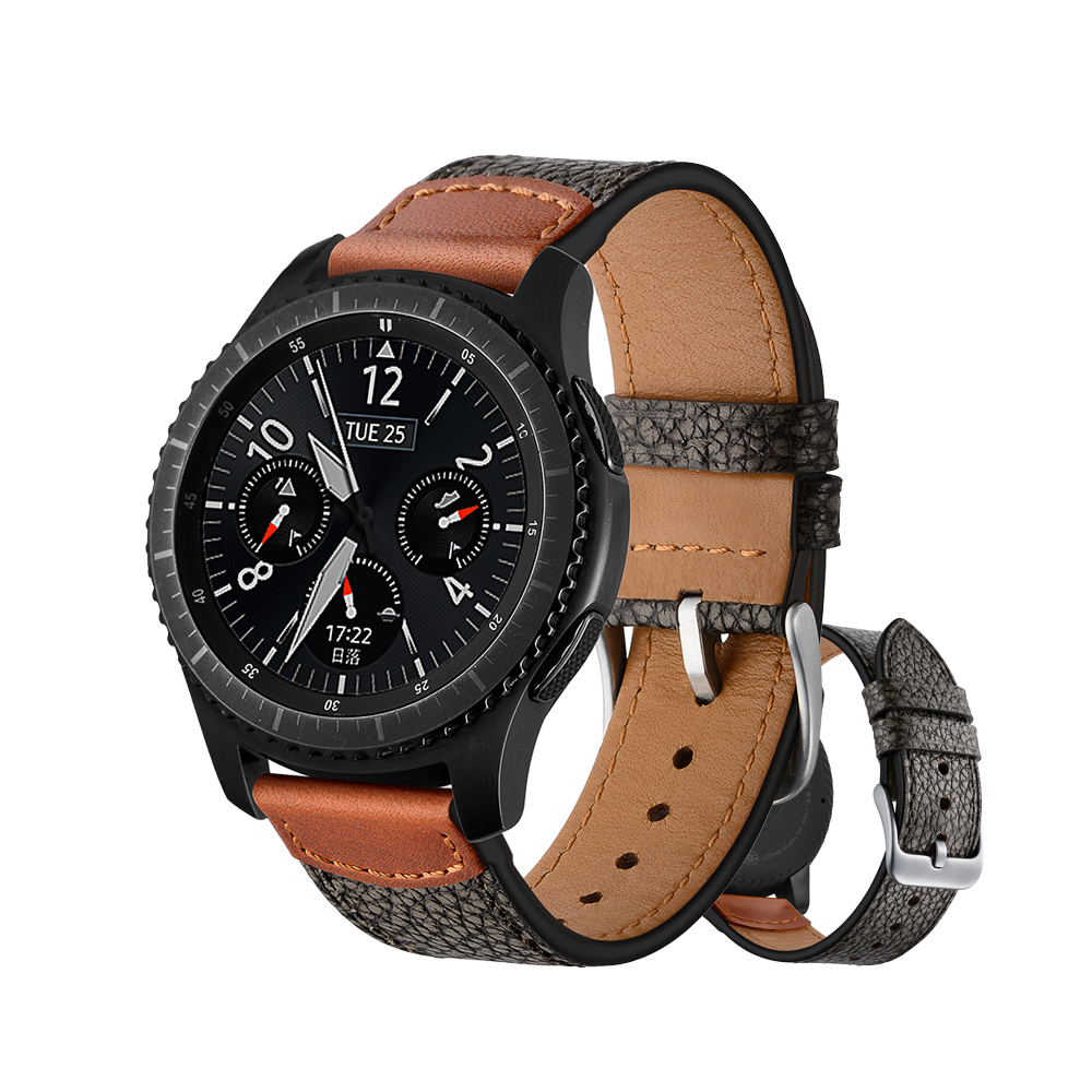 22mm Genuine Leather Watch strap for Samsung Gear S3 Classic Frontier band for samsung R760/R770 Huami Amazfit Pace/Stratos 2/1 amazfit leather bracelet watch band 22mm for xiaomi huami amazfit pace stratos 2 correa wrist strap for samsung gear frontier s3