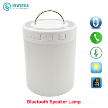 Wireless Bluetooth Speaker lamp  Colorful Touch LED Light Lamp With TF Card Music Player DC5V  music table lamp