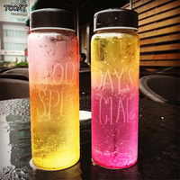 Adult Glass Bottles For Drinking Water Bouteille Garrafa Beverages Creative Transparent Sports Hand Glass Bottle With You QQB143