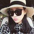 2017 Viento Mezcla de gafas de Sol de Mujer de Marca Diseño Retro Planos de Marea Gafas de Sol Para Las Mujeres Coreanas reflectantes Gafas Gafas De Sol