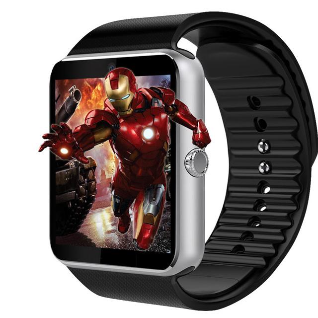 Reloj de sincronización de dispositivos portátiles de smart watch gt08 notificador soporte sim tarjeta tf para iphone android teléfono smartwatch dz09 pk u8 gd19