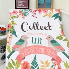 Фланелевое Одеяло с рисунком птицы 150x200 см