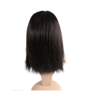 Image 2 - Ali FumiQueen Lace Front Wig With Baby Hair 180%/250% Density Peruvian Straight Non Remy Hair 4x4 Lace Closure wig Free Shipping