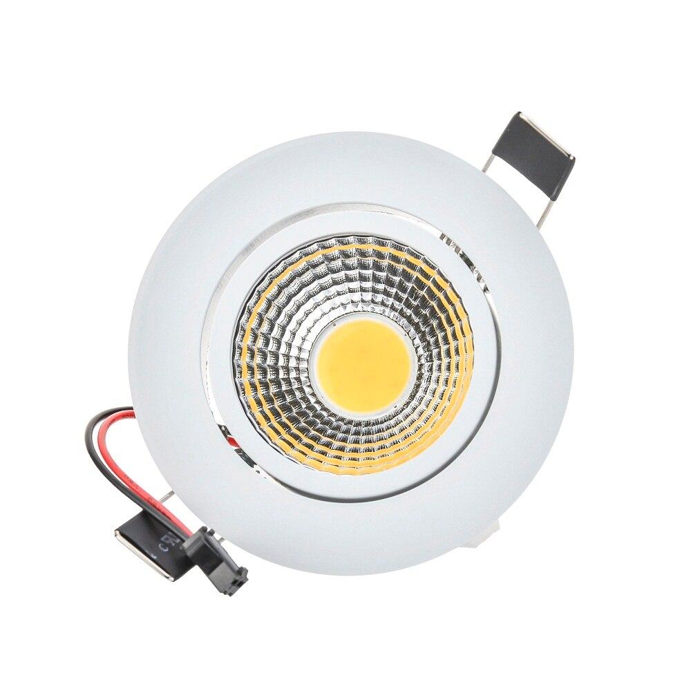 Затемнения светодиодные светильники 3 Вт 6 Вт 9 Вт светодиодные светильники затемнения 220 В Светодиодные пятно встраиваемый светильник белы...