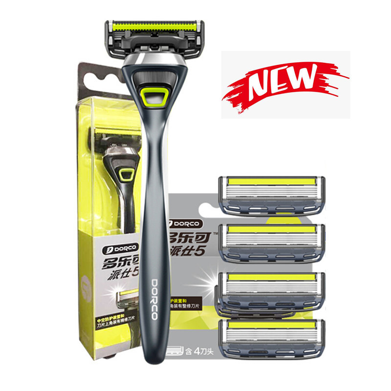 Premium Quality Shaving Machine Men's Beard Care Shaving Hair Removal Manual Safety Shaver with 5+1 Sharp Razor Blades