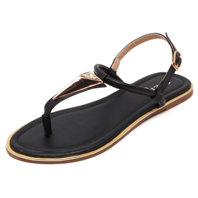 5807a307da9e GOXPACER New Arrival Summer Shoes Flip Flops Women Sandals Fahion Women  Shoes Buckle metal back strap shoes women plus size
