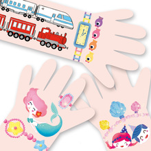 Finger Rock etiqueta engomada DIY lindo impermeable tatuajes temporales etiqueta niños juguete de dibujos animados Ramos niños tatuajes temporales