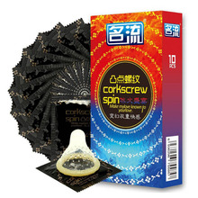 40pcs (4 boxes) Ice & Fire Double Pleasure Condoms G Spot Stimulation Condones Natural Latex Threaded Particles Penis Sleeve