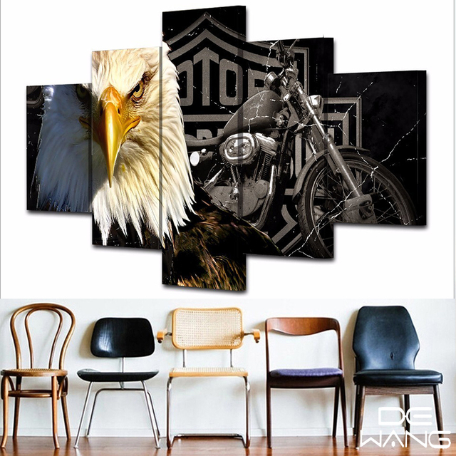 5 Piece Canvas Art Oil Painting By Numbers Canvas Paintings Wall Pictures Posters Prints  Pictures Philadelphia Eagles Jersey