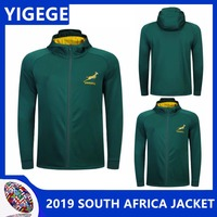 YIGEGE 2019 SPRINGBOK SIDE LINER JACKET South Africa Hoodies South African national team rugby jerseys Hoodie Jacket