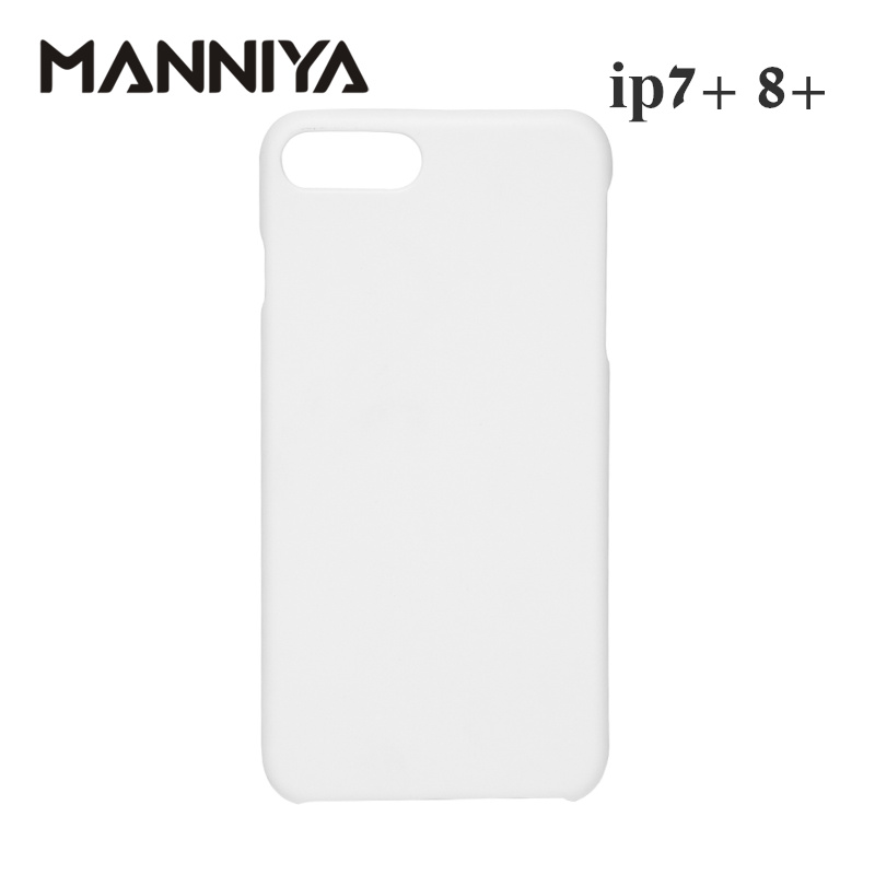 MANNIYA 3D Sublimation Blank white Phone Cases for iphone 7 plus 8 plus Free Shipping! 100pcs/lot-in Half-wrapped Cases from Cellphones & Telecommunications    1