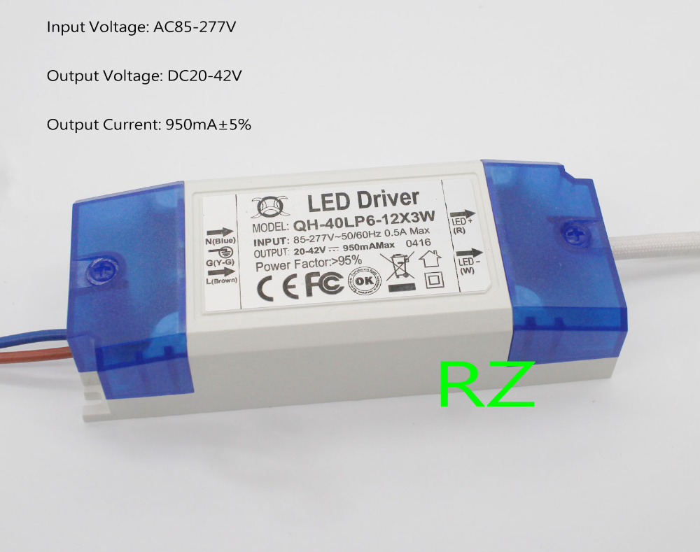 10pcs 6 12x3w 950ma Led Driver 20w 30w 40w Dc20 42v High Power Picture Of Circuits Powr Supply For Floodlight In Lighting Transformers From Lights On