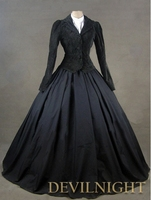 Black Jacket Winter Gothic Victorian Costume Dress Gothic Victorian Dress Patterns
