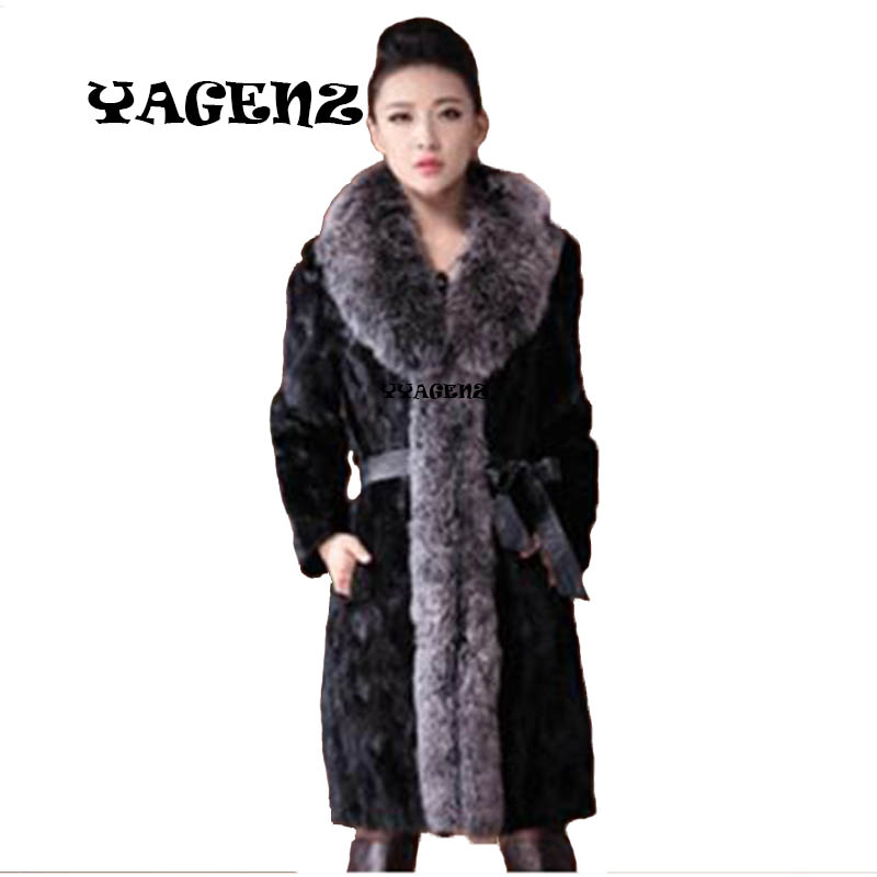2017 Autumn and winter new Black Fake Fur Coat Women 3XL Big Size Faux Fox Fur Hooded Long Jackets Mujer Plus Size Women Parkas