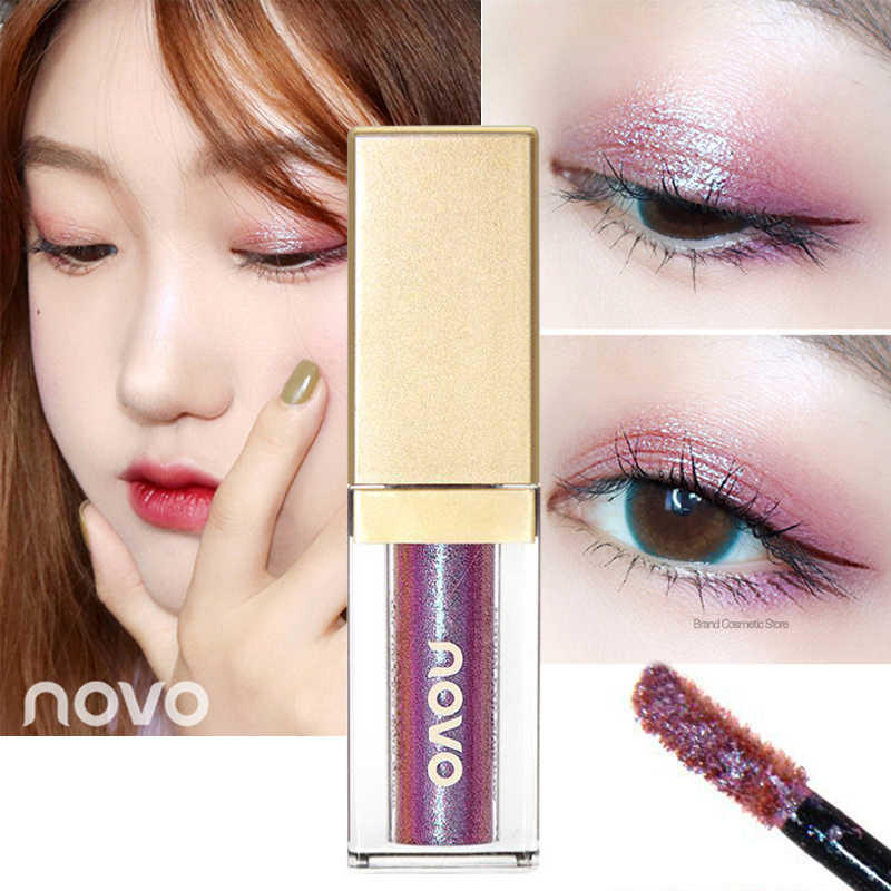 Flüssigkeit Eye Glitter Lidschatten Novo Lidschatten Palette Make-Up Lidschatten Paletten Pallete Wasserdicht Koreanische Make-Up Augen Kosmetik