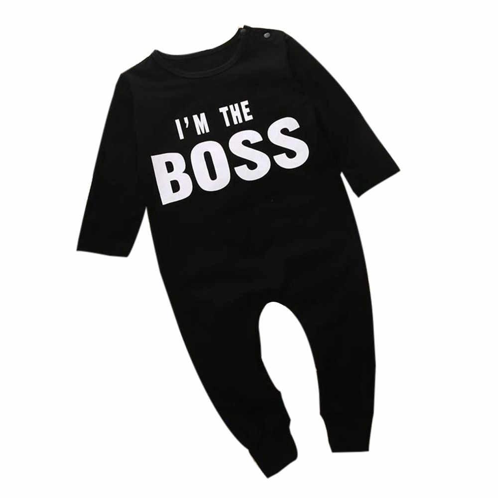 2019 כותנה מודפס יילוד תינוקות תינוק ילד ילדה מכתב סרבל Romper תלבושות בגדי kiz bebek giyim מכירה לוהטת #06