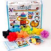 400pcs Assemble 3D Puzzle DIY Puff Ball Squeezed Ball Creative Thorn Ball Creative Handmade Educational Toys