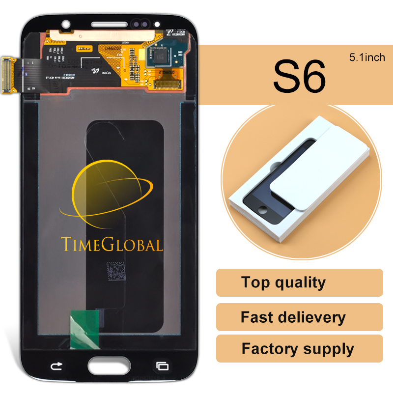 DHL 10pcs 100% Original alibaba china highscreen clone For Samsung S6 G9200 LCD With Touch Screen Digitizer Assembly
