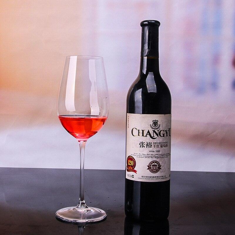 Coupe à vin transparente faite main européenne gobelet en verre sans plomb cristal Bordeaux coupe à vin rouge verre à Champagne 4 pièces/ensemble