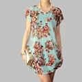 50 designs new 2016 summer fashion women casual clothing plus size girl tops beach wear floral xxxl 4xl dresses print