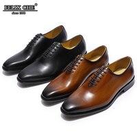 Felix CHU классический стиль Для мужчин плоской подошве оксфорды Модельные туфли из натуральной кожи коричневый, черный свадебные туфли мужско