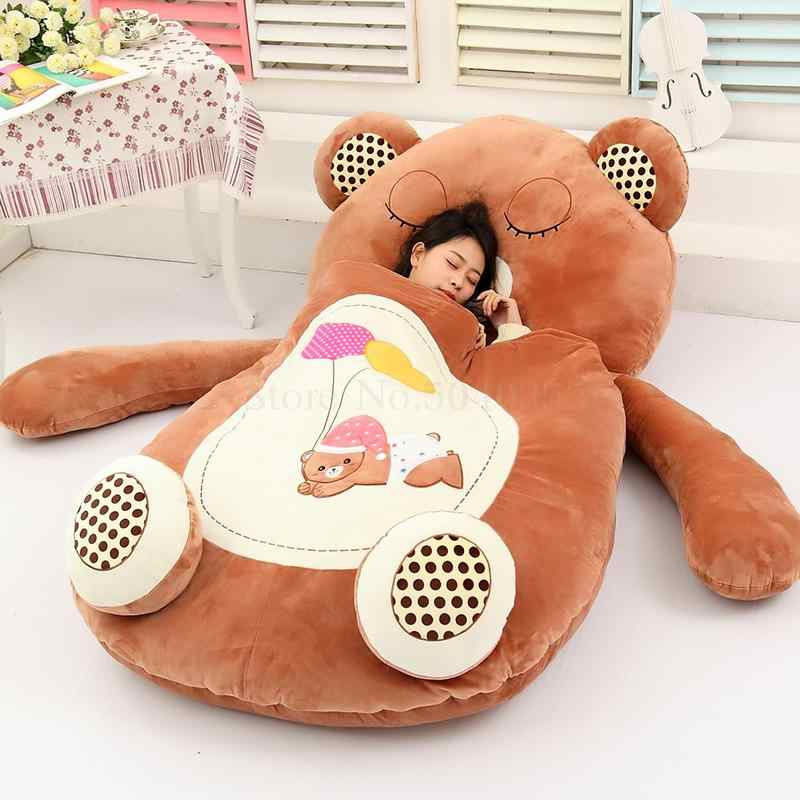 Cartoon cute animal bear child bed lazy couch tatami doll bed seat sleeping pad removable and washable