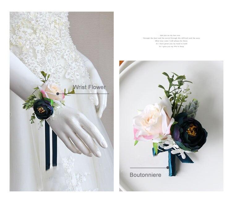 wedding boutonniere wrist corsage marriage  (23)