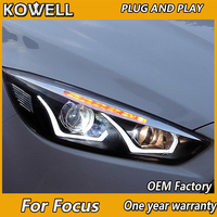 KOWELL Car Styling for Focus Headlights 2015 2016 Focus LED Headlight Focus R DRL Bi Xenon Lens High Low Beam Parking Fog Lamp