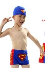 Kid children's swimwear swimming trunks swimming trunks boxer boy Superman baby child infant baby swim suit swimming trunks gwinner swimming trunks