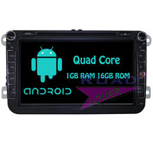 Roadloevr Android 6,0 coche Multimedia para Volkswage Touran Tiguan Passat B5 T5 Multivan Caddy Touareg GPS estéreo Magnitol 2 Din(China)