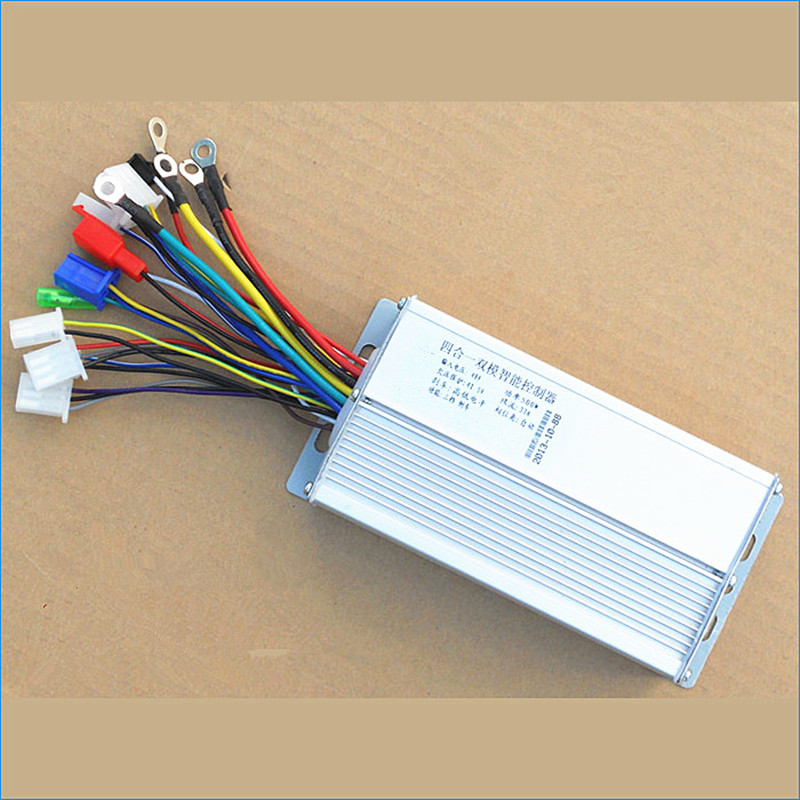 12 Tube 48V 500W DC electric car motor controller intelligent Dual mode brushless DC motor controller