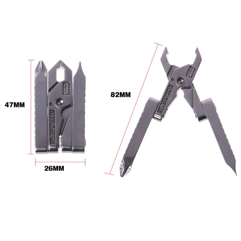 6 in 1 Multi - function Outdoor Tool Clamp Mini - pliers Micro Multitool Keychain Portable Folding Tool EDC Equipment Pocket Gea