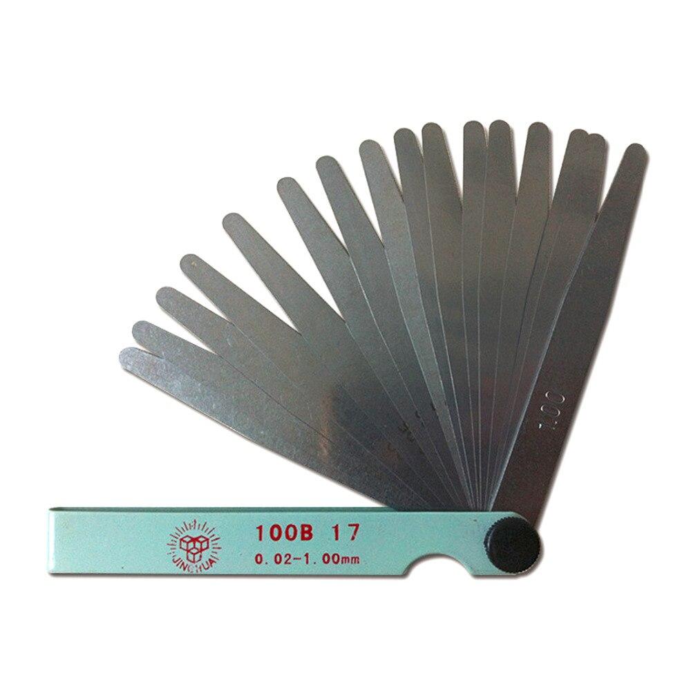 17 лезвий свечи зажигания толщина зазора метрический наполнитель щупа метрические измерения от 0,02 до 1 мм стальные измерительные инструмент...