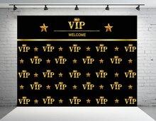 Vip תמונה רקע רויאל כתר שחור הוליווד צילום תפאורות מותאם אישית יום הולדת מסיבת רקע לצילום סטודיו