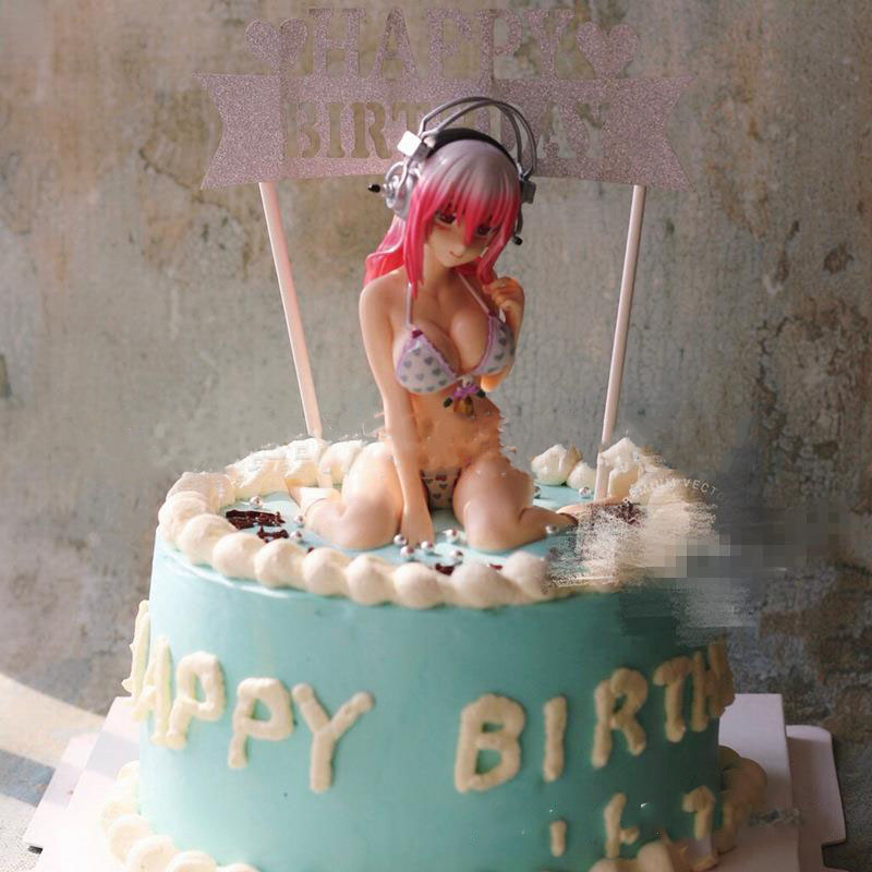 Brilliant 13Cm Supersonico Anime Figure Sexy Bikini Birthday Cake Decoration Funny Birthday Cards Online Hendilapandamsfinfo