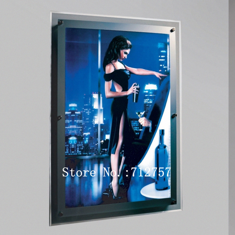 ultra slim acrylic frame led illuminated movie poster light boxes wall mounted led poster advertising display