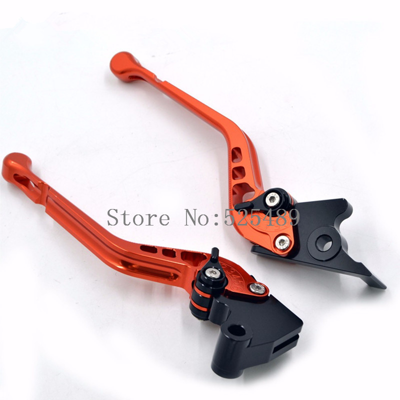 ФОТО For KTM 690 SMC/SMC-R/Duke/Duke R 2012-2013 New 2016 Brand 1 Pair Orange CNC Aluminum Motorcycle Adjustable Brake Clutch Levers