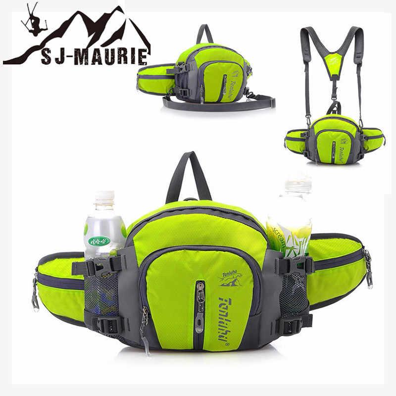 68d5800e5614 Waterproof Running Bag Travel Handy Hiking Sport Waist Pack Waist Belt  Pouch Adjustable Strap Sport Crossbody Bag