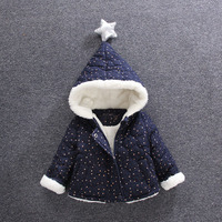 2017 nuovo bambino moda bambino abbigliamento autunno inverno, inverno 6 mesi-5 anni più cerniera Peluche, ragazzi e ragazze di inverno cappotto