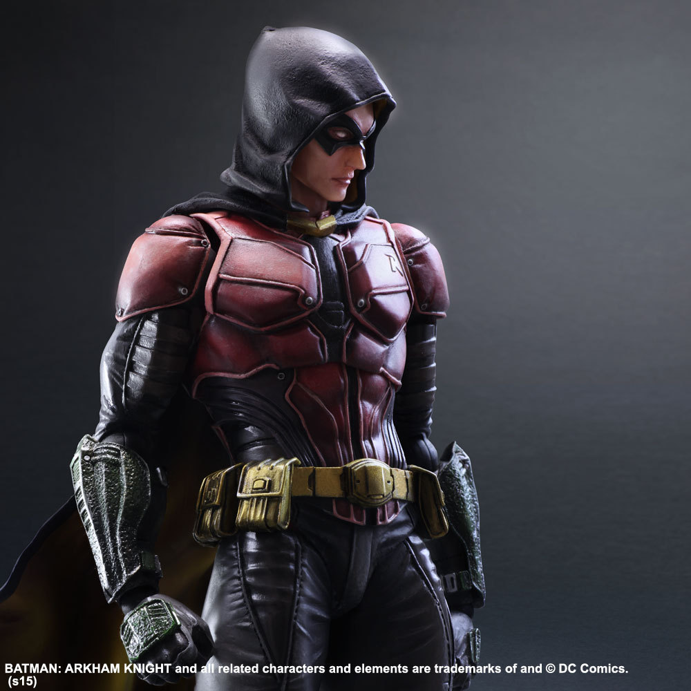 Playarts KAI Figure Batman Arkham Knight NO.2 Robin Action Figure Toy 25cm цена