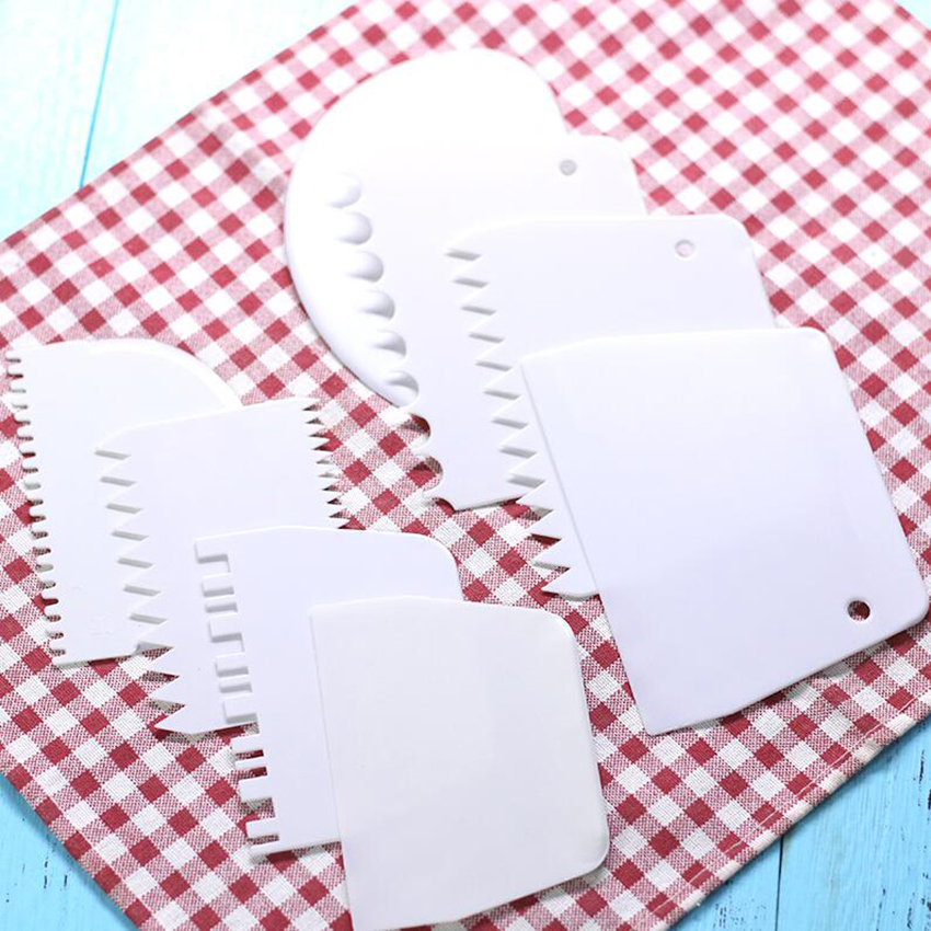 12 Styles Plastic Dough Scraper for Bread Making & Cake Decorating Pastry Tools