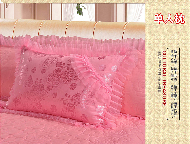 Hot 4 6 8 pcs jacquard lace red pink luxury bedding set Queen King size wedding bed cotton bed sheets duvet cover set bedspreads in Bedding Sets from Home Garden